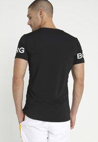 Björn Borg - TEE - T-shirt med print - black beauty - 2