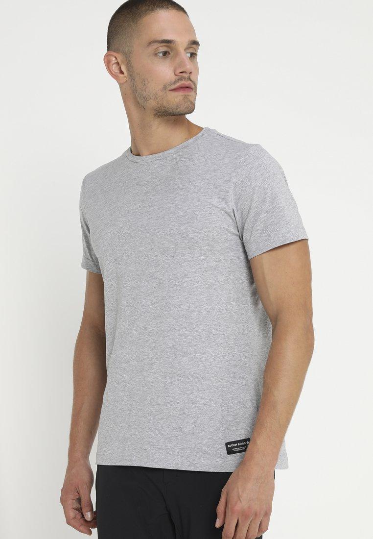 Björn Borg - CENTRE REGULAR TEE - T-shirts basic - light grey melange