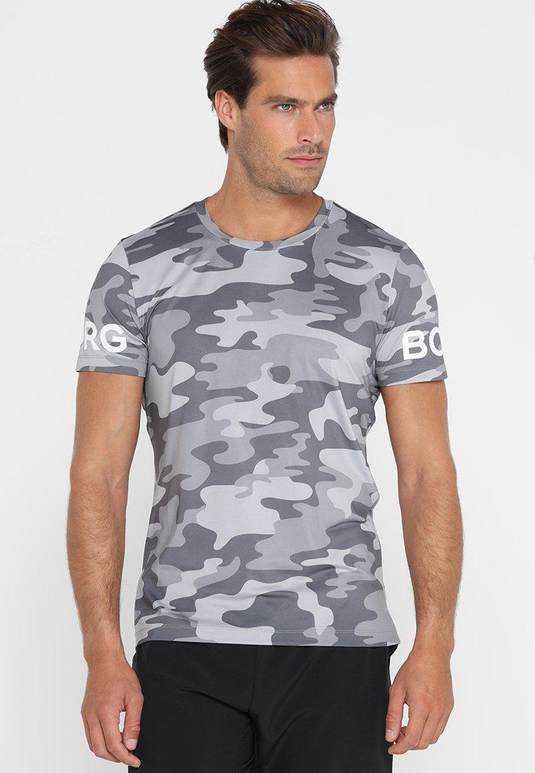 Björn Borg - TEE - T-shirt con stampa - la clouds grey