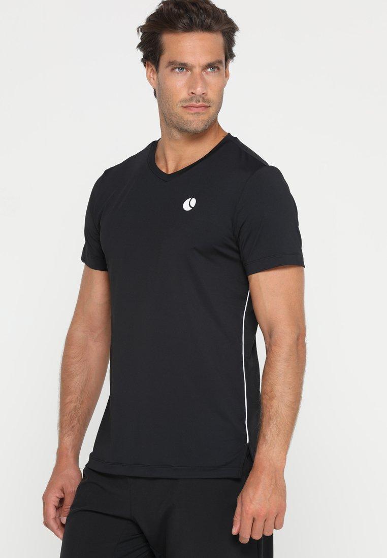 Björn Borg - TOREN TEE - T-Shirt print - black beauty
