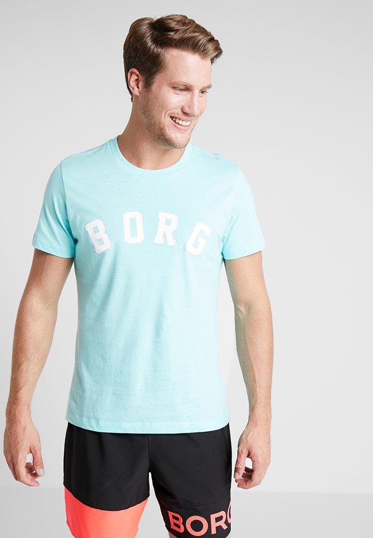 Björn Borg - BERNY TEE - T-shirt med print - aruba blue