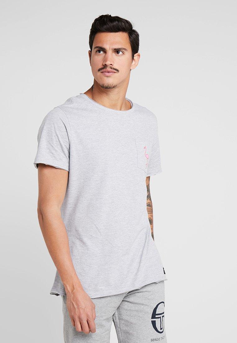 Björn Borg - SUMMER TEE - T-Shirt print - light grey melange