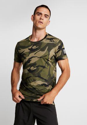 TEE  - T-shirt med print - olive