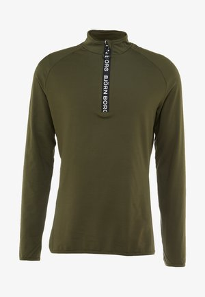 HALF ZIP - T-shirt à manches longues - forest night
