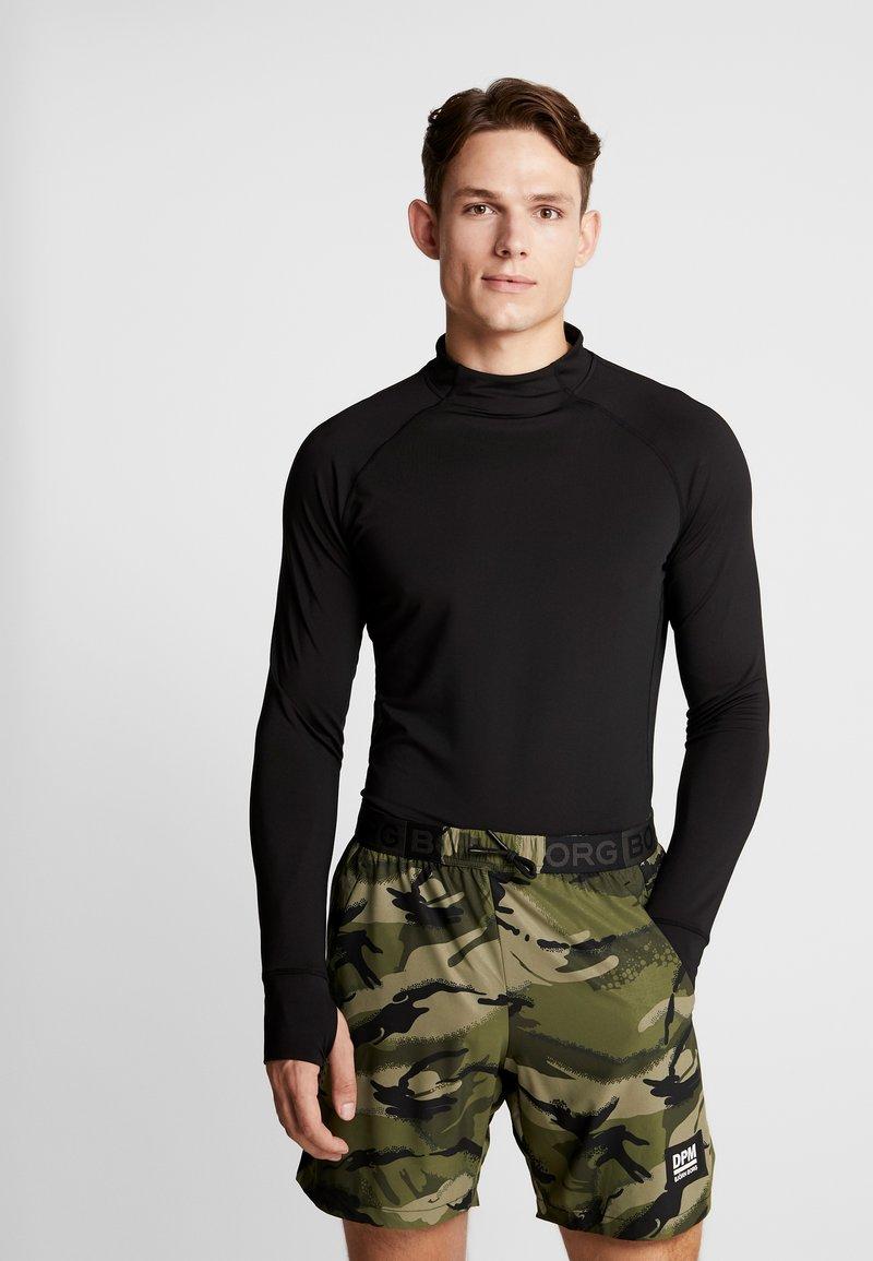 Björn Borg - MOCK NECK ANDERS - Sports shirt - black beauty