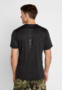 Björn Borg - TEE - T-shirt med print - black beauty melange - 0