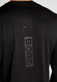 Björn Borg - TEE AXTON - T-shirt de sport - black beauty melange - 5