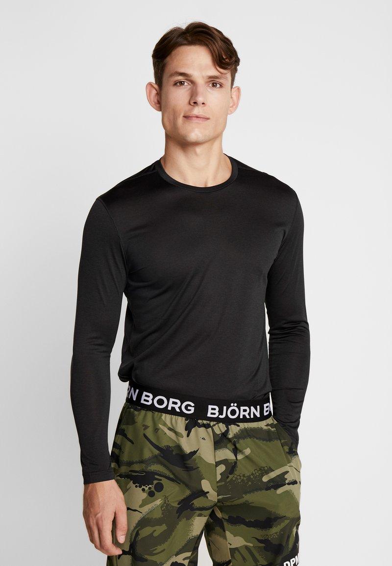 Björn Borg - TEE AXTON - T-shirt de sport - black beauty melange