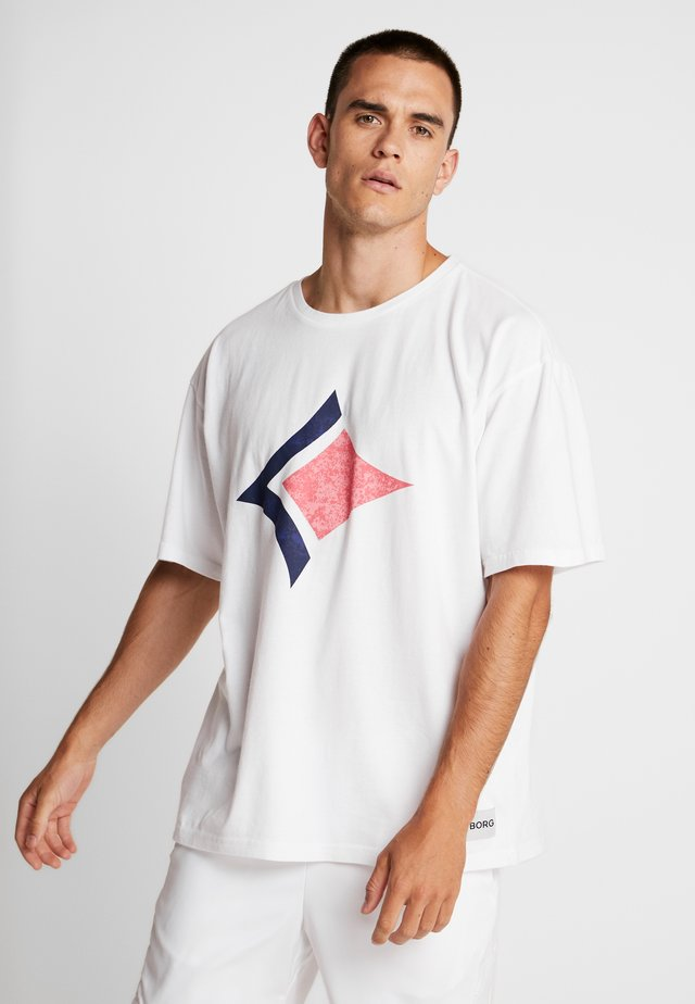 LOOSE TEE ARCHIVE - T-shirt med print - brilliant white
