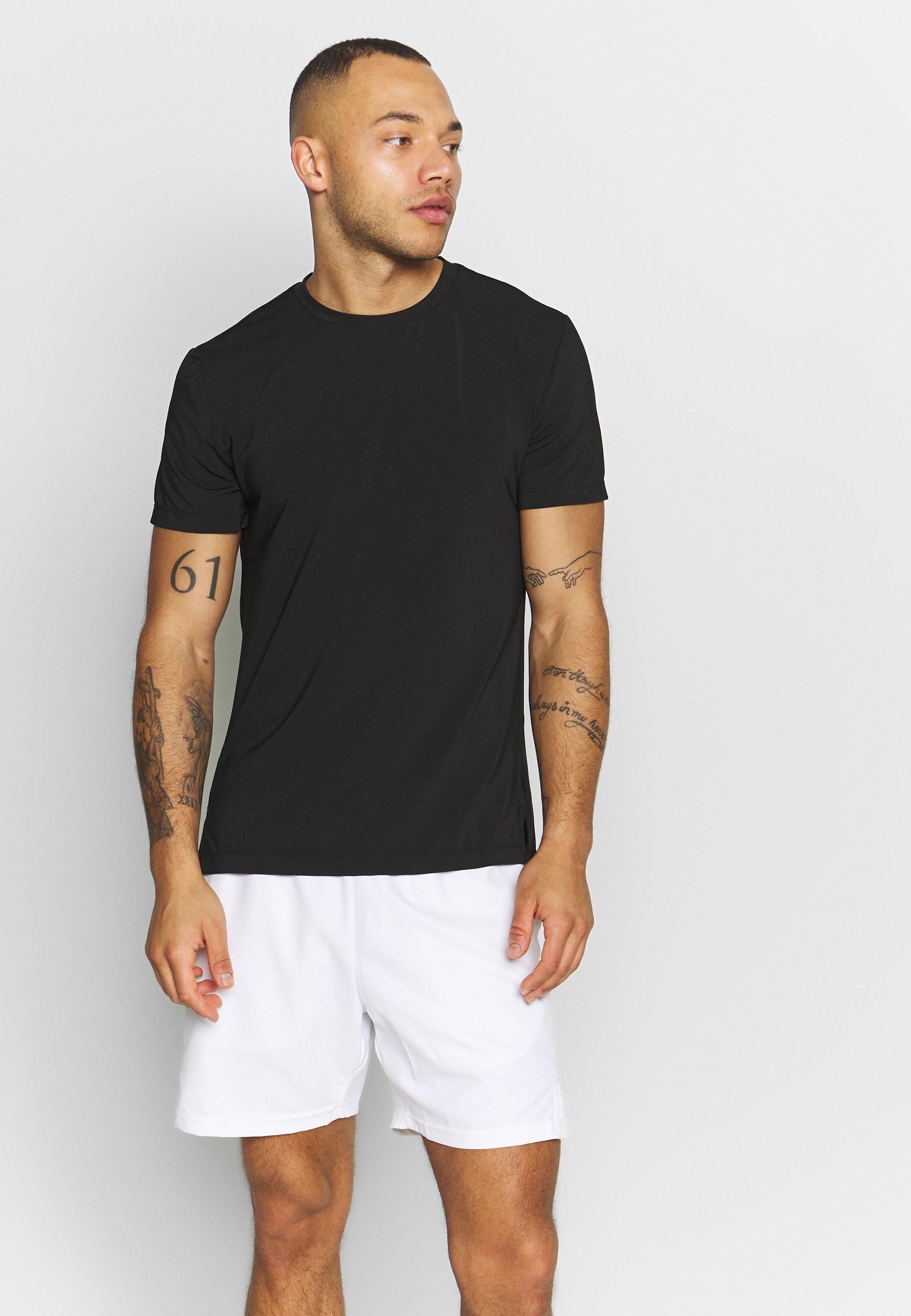 Björn Borg TEE ASTOR - T-shirt z nadrukiem - black beauty