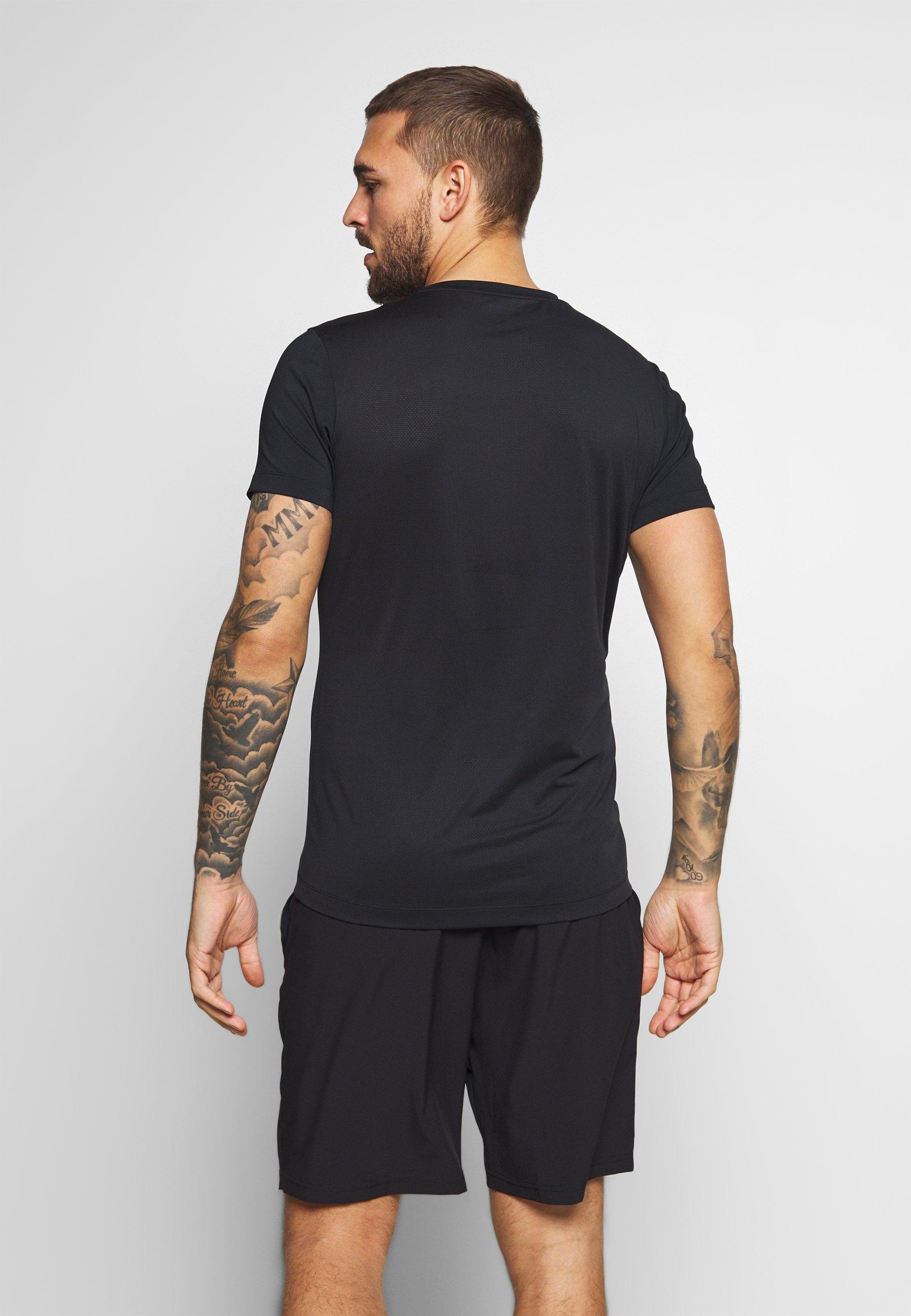 Björn Borg ALDO TEE - T-shirts med print - black radiate