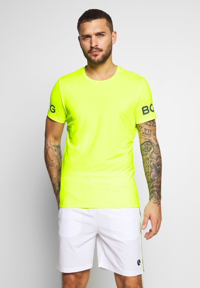 TEE - Triko s potiskem - safety yellow