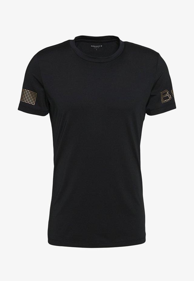 MEDAL TEE - Tekninen urheilupaita - black/gold