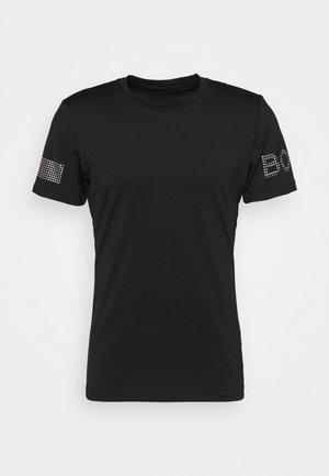 MEDAL TEE - Tekninen urheilupaita - black/silver