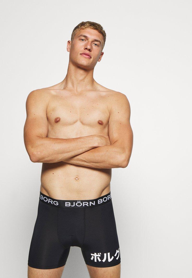 Björn Borg - PLACED SHORTS - Leggings - black beauty