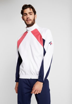 BLOCKED TRACK JACKET - Veste de survêtement - brilliant white