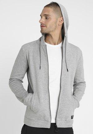 HOODIE JACKET - Zip-up hoodie - light grey melange