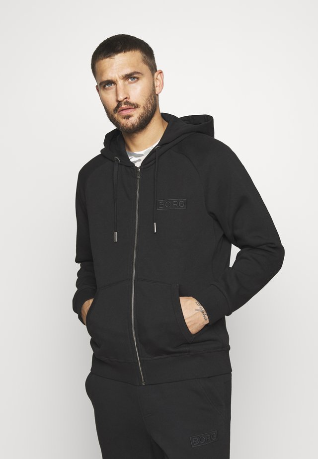 SPORT ZIP HOOD - Huvtröja med dragkedja - black beauty