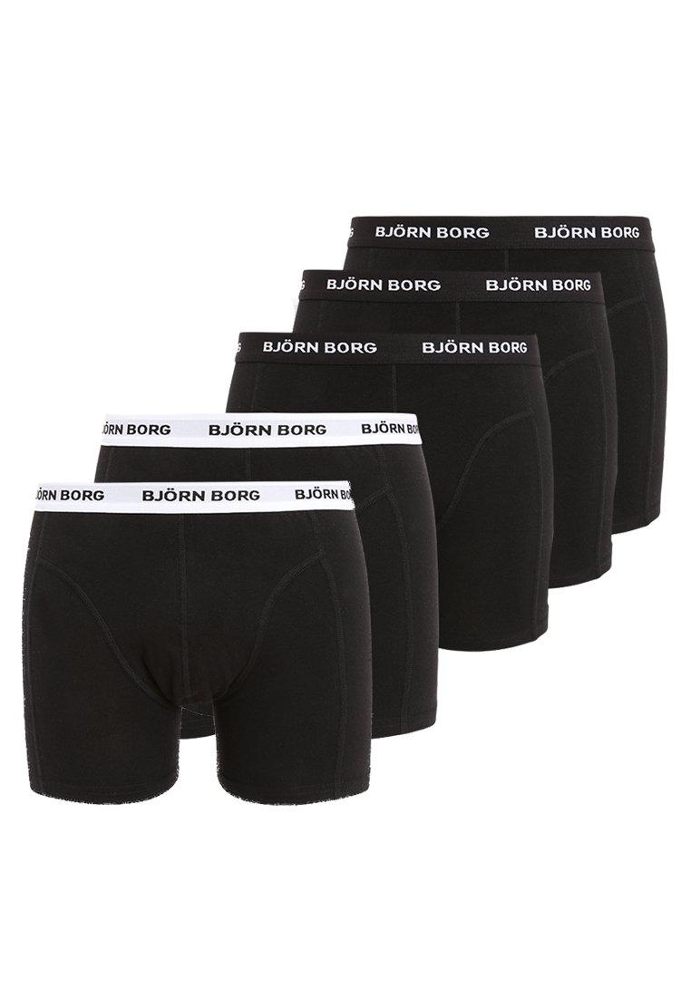 SOLIDS 5 PACK - Onderbroeken - black