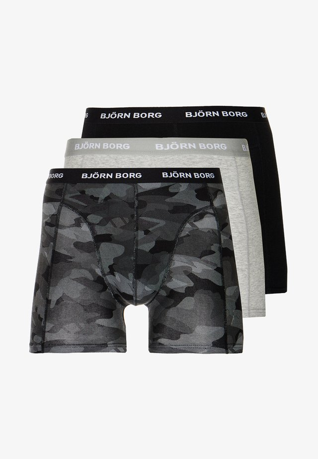 SHADELINE SAMMY SHORTS 3 PACK - Bokserit - black beauty