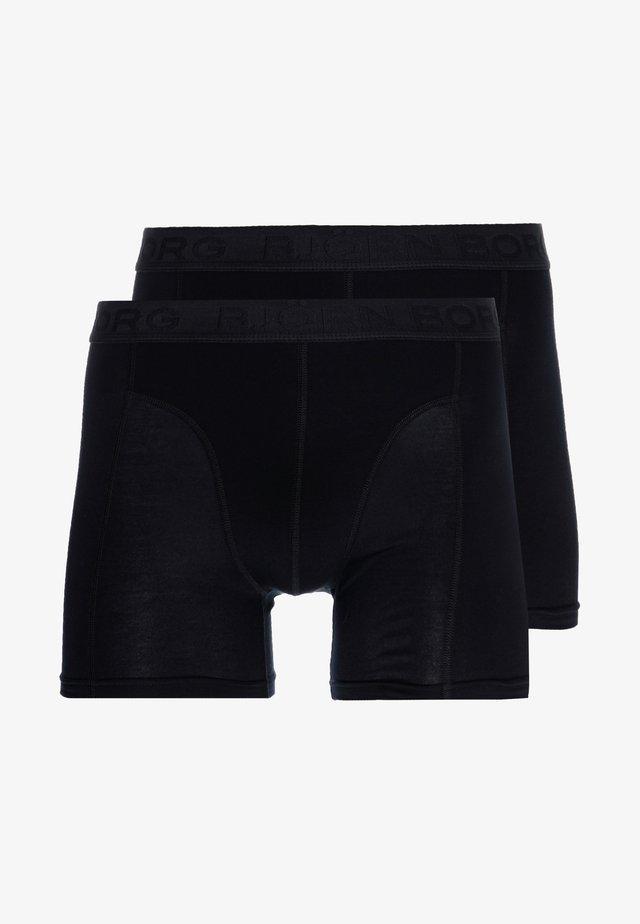 SAMMY COFFEE SOLID 2 PACK - Pants - black