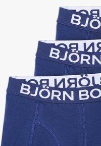 Björn Borg - SOLIDS SAMMY SHORTS 3PACK - Onderbroeken - blue depths - 3
