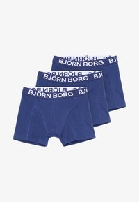 Björn Borg - SOLIDS SAMMY SHORTS 3PACK - Onderbroeken - blue depths - 2