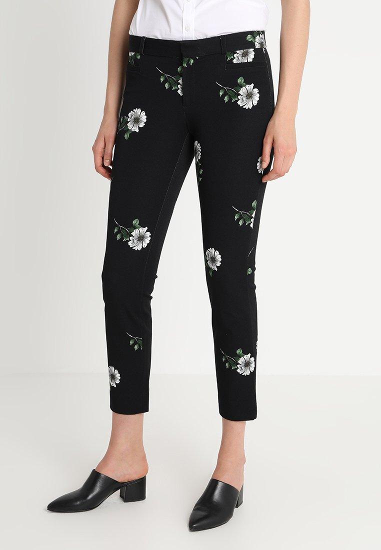 Banana Republic - SLOAN JACQUELINE FLORAL - Pantalones - black