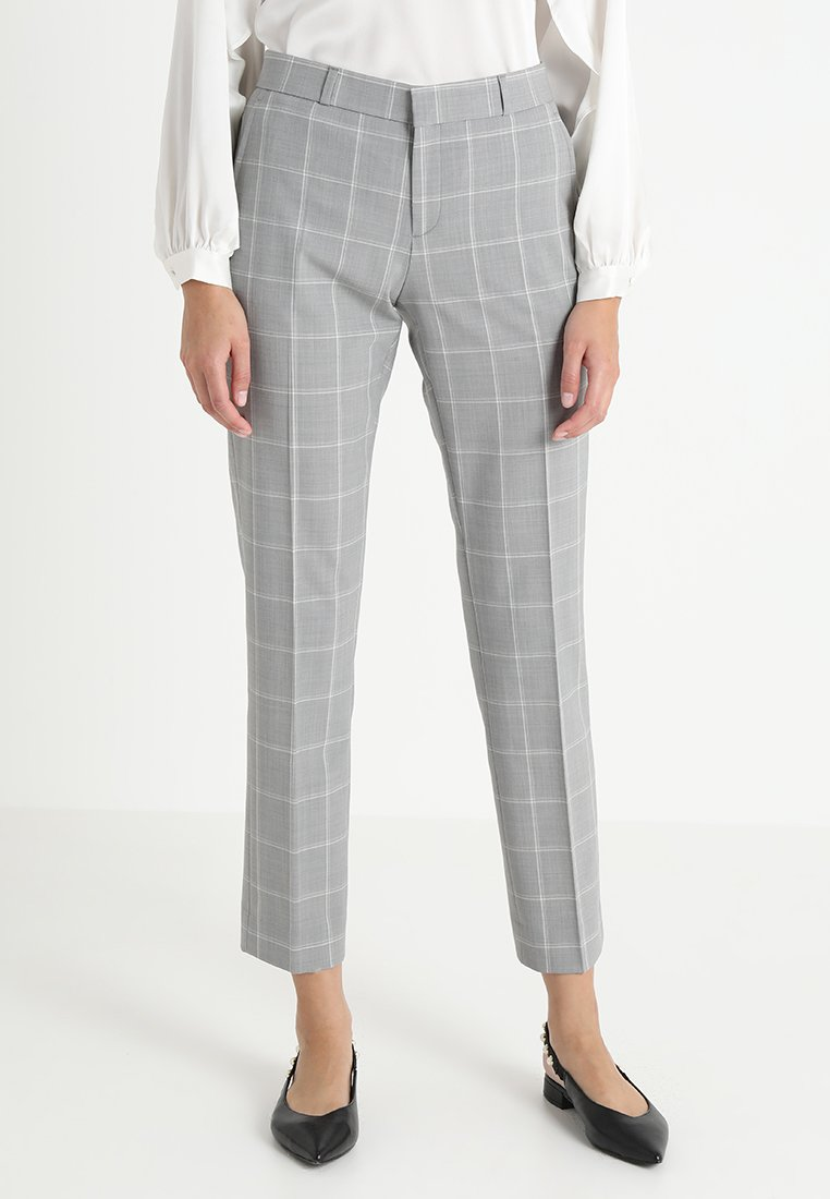 Banana Republic - RYAN WINDOWPANE - Trousers - grey combo