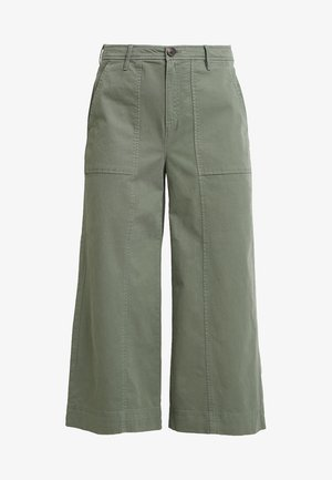 WIDE LEG CROP CHINO - Broek - flight jacket