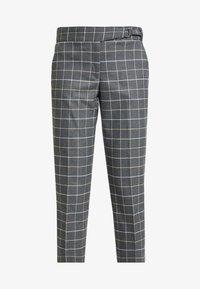 Banana Republic - AVERY TIE WAIST LARGE SCALE GRID - Spodnie materiałowe - dark heather grey - 4