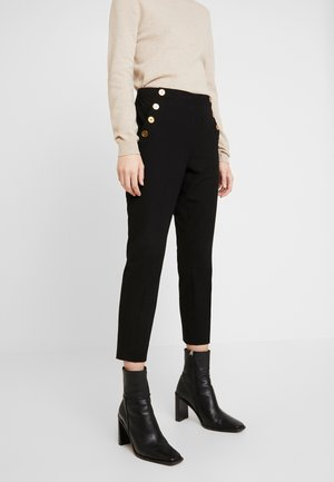SLOAN SOLID BRUSHED SAILOR - Trousers - black