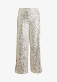 Banana Republic - WIDE LEG SEQUIN PANT - Pantalones - silver - 3