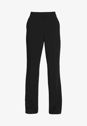 SLIM FLARE SOLIDS - Pantaloni - black
