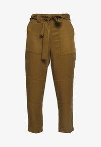 Banana Republic - UTILITY STRAIGHT TIE WAIST PANT SOLIDS - Trousers - cindered olive - 3