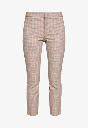 SLOAN WARM PLAID - Trousers - camel