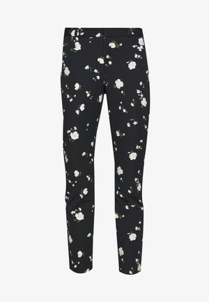 SLOAN FLORAL - Trousers - black