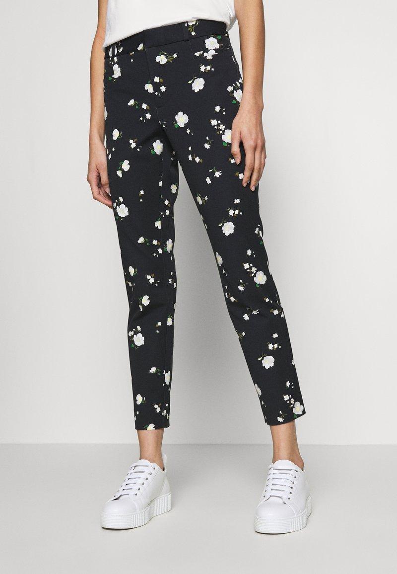 Banana Republic - SLOAN FLORAL - Pantaloni - black