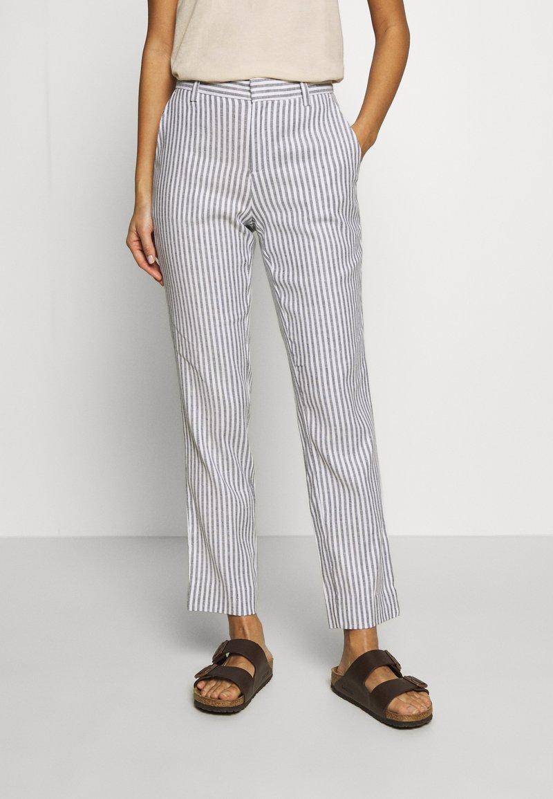 Banana Republic - AVERY STRIPES - Trousers - white/navy