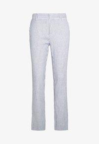 Banana Republic - AVERY STRIPES - Trousers - white/navy - 4