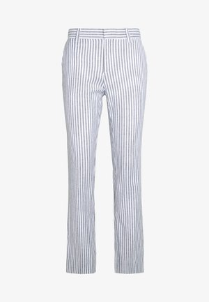 AVERY STRIPES - Trousers - white/navy
