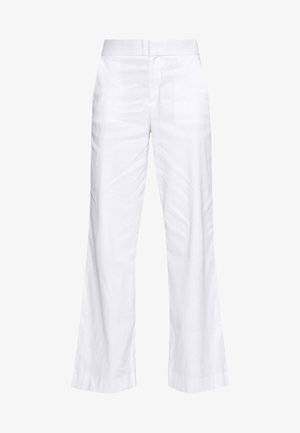 WIDE LEG FULL LENGTH CLEAN SOLIDS - Pantaloni - white