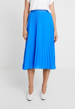 PLEATED SOLID MIDI SKIRT - Jupe trapèze - brilliant blue