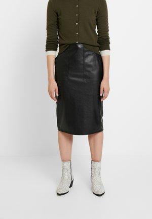 WASHABLE - Pouzdrová sukně - black