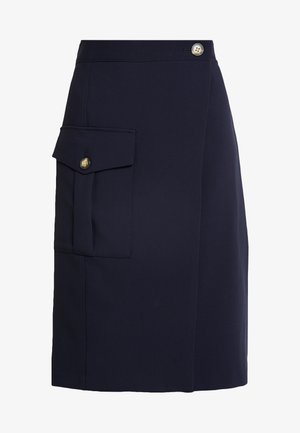 SIDE POCKET TIE WAIST SKIRT - Gonna a tubino - preppy navy