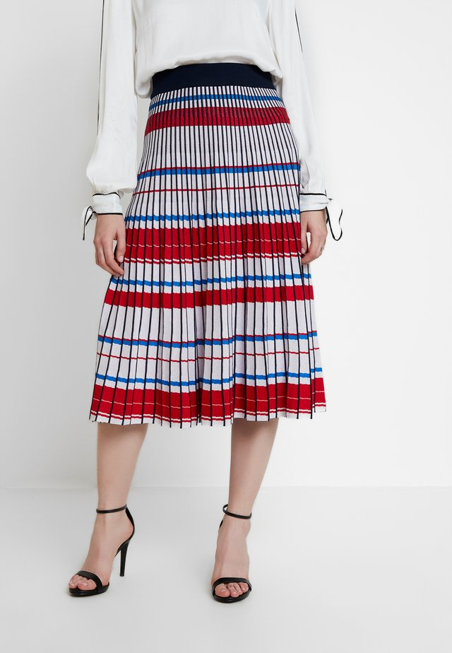 GEO PLEATED SKIRT - Falda acampanada - blue/multi