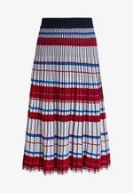 GEO PLEATED SKIRT - A-line skirt - blue/multi