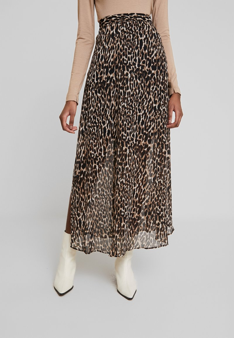 Banana Republic - LEOPARD MAXI SKIRT - Maxi skirt - brown