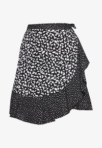 Banana Republic - RUFFLE MINI SKIRT - Falda cruzada - black - 3