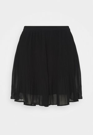 PLISSE - Mini skirt - black